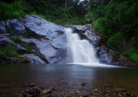 泰国拜县摩摆瀑布