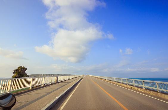日本冲绳古宇利大桥