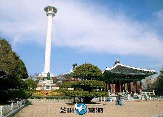 韩国釜山翻译 韩国釜山龙头山公园釜山塔