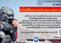 泰媒警告在中国的泰国人切勿非法就业,恐遭重罚