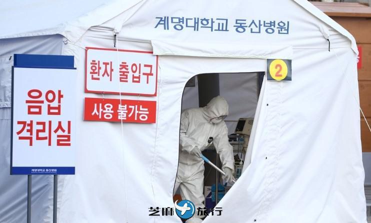 韩国感染新冠病毒确诊病例累计893例 今日新增60例