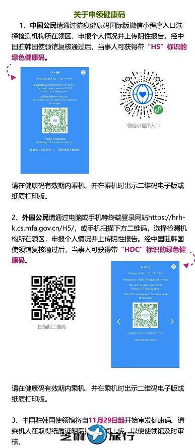 2020年12月1日起,从韩国回国必读知识