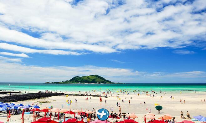 韩国济州岛旅游 韩国济州挟才海水浴场